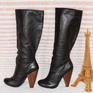 VERY VOLATILE Senorita Leather Knee High Heel Boot